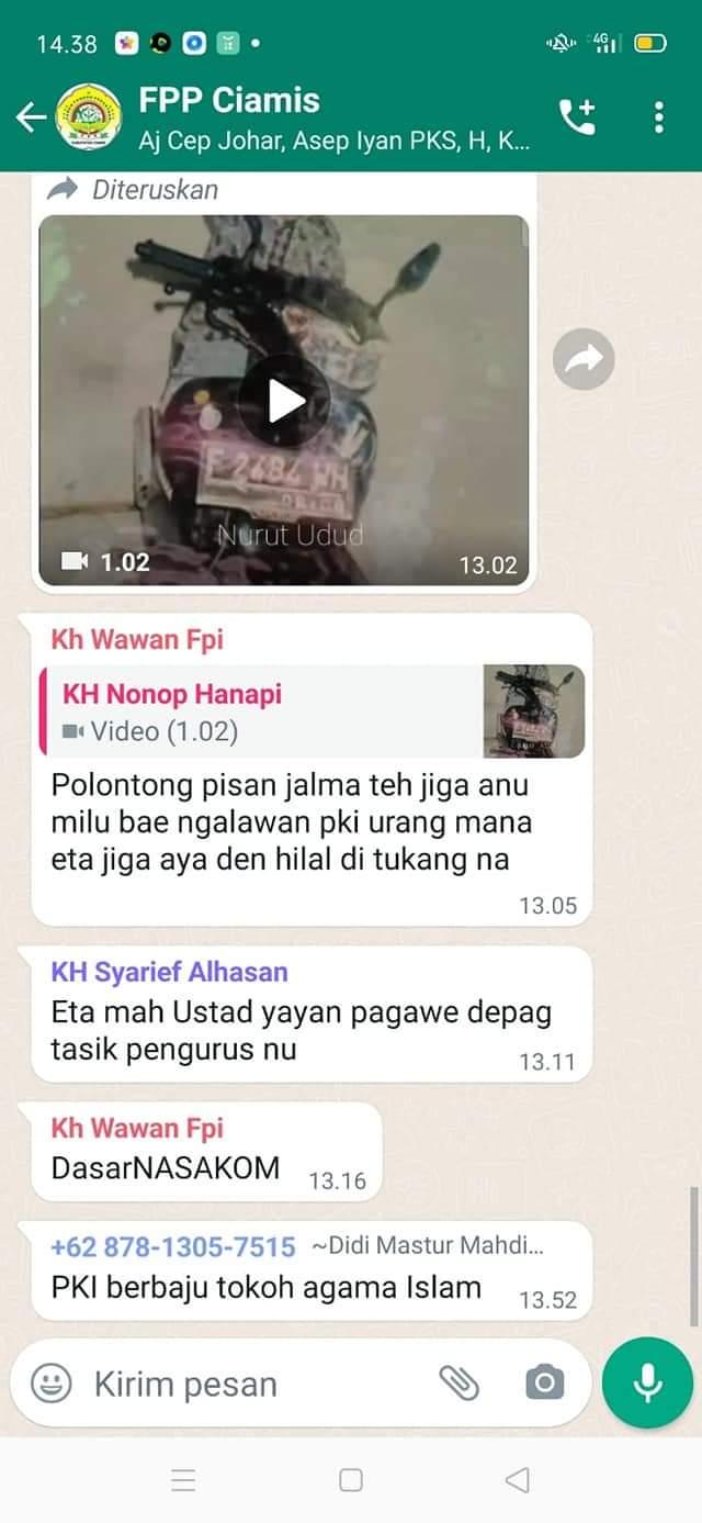 Bukti Tangkap Layar Percakapan di WhatsAap