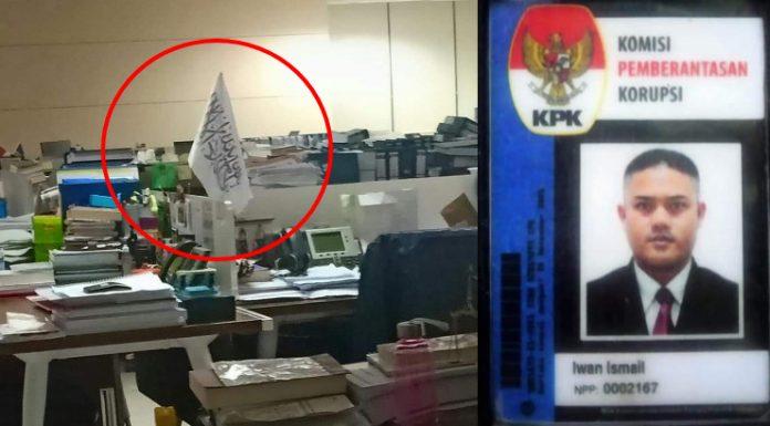Foto Bendera HTI di Ruangan KPK